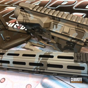 Cerakoted Ar Gun Parts In H-234, H-146 And H-185