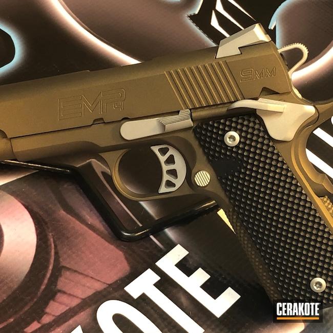 Cerakoted: S.H.O.T,9mm,Shimmer Aluminum H-158,Springfield 1911,Graphite Black H-146,Burnt Bronze H-148,Pistol,Springfield Armory