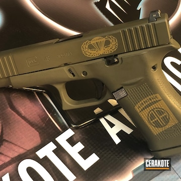 Cerakoted 82nd Airborne Themed Glock 48 In H-187 And H-236