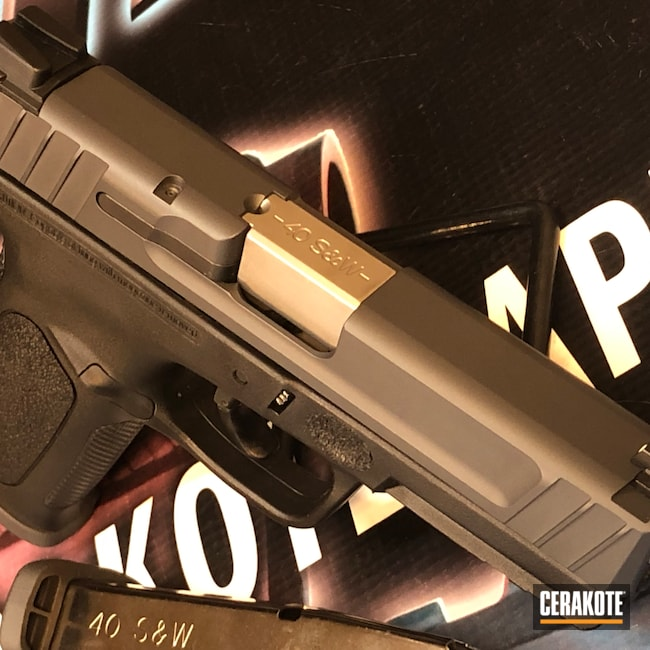 Cerakoted: S.H.O.T,9mm,Sniper Grey H-234,Smith & Wesson,Pistol