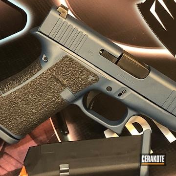 Cerakoted 9mm Glock 43x Handguns In H-185