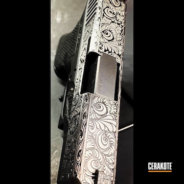 Cerakoted Deep Laser Engraved Glock Slide In H-146