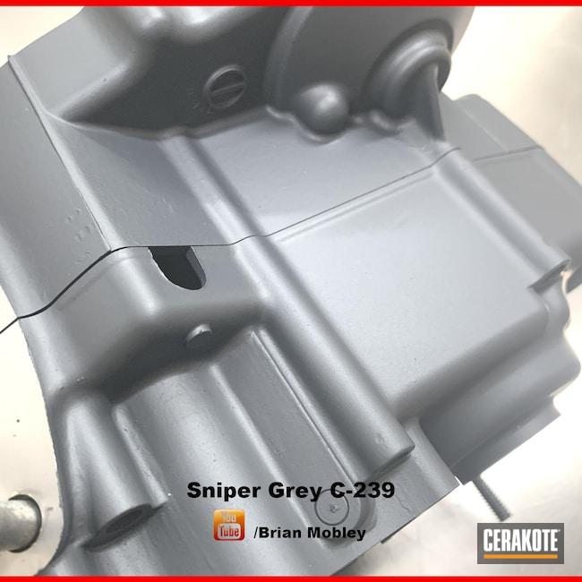 Cerakoted: Motorcycle Engine,Honda CR85,Motorcycles,Motocross,More Than Guns,Automotive,Sniper Grey C-239,Honda