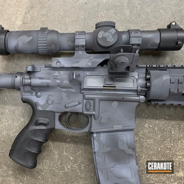Cerakoted Smith & Wesson M&p 15 Rifle In H-234, H-136 And H-146