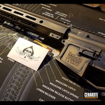 Cerakoted New Frontier Rifle In H-146 And H-148