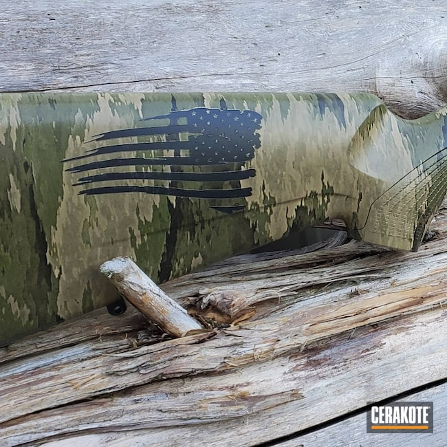 Cerakoted: S.H.O.T,Rifle,Graphite Black H-146,MATTE CERAMIC CLEAR MC-161,Stock,Tikka