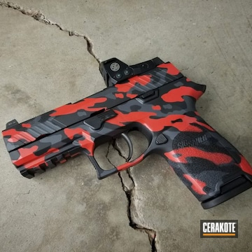 Cerakoted Sig Sauer P320 Urban Multicam In H-262, H-146 And H-167