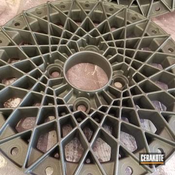 Cerakoted Custom Wheel Faces In C-111