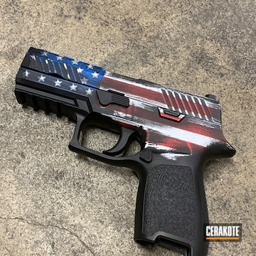 Distressed American Flag Sig P320