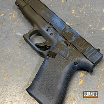 Cerakoted Skull Themed Glock 48 Handgun In H-171 And Hir-146