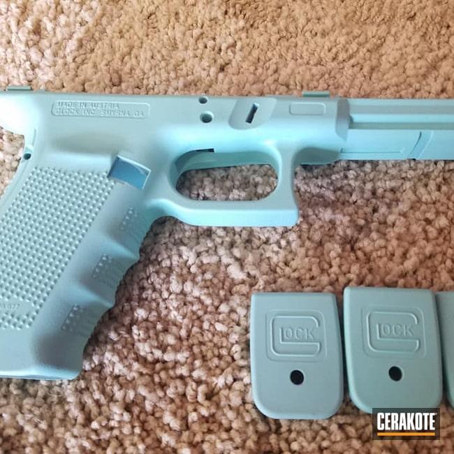 Cerakoted: S.H.O.T,Robin's Egg Blue H-175,Tiffany Blue,Glock,Handguns,Guns for Girls