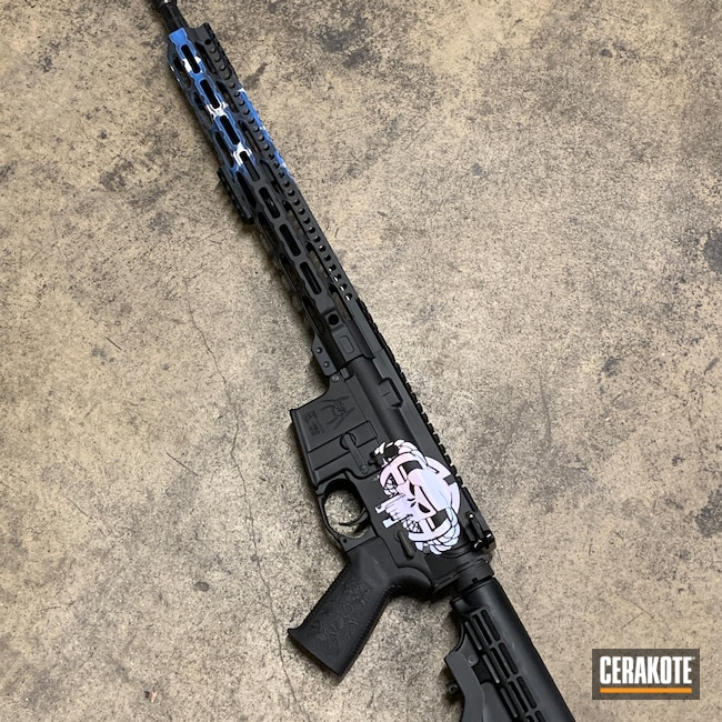 Cerakoted: S.H.O.T,Anderson,Tactical Rifle,5.56,MULTICAM® DARK GREY H-345