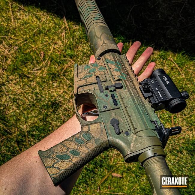 Cerakoted: S.H.O.T,Highland Green H-200,Kryptek,Burnt Bronze H-148,Tactical Rifle,.223,O.D. Green H-236,AR-15