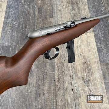 Cerakoted Refinished .22lr Squibman Model 20a In H-146 And H-150