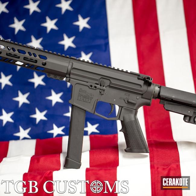 Cerakoted: S.H.O.T,9mm,AR Pistol,PPC,#custom,Graphite Black H-146