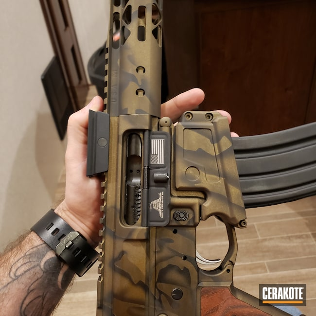 Cerakoted: S.H.O.T,Tiger Camo,#custom,Tactical Rifle,Midnight Bronze H-294,.50 Beowulf,50 Beowulf,5.56,Graphite Black,Graphite Black H-146,Burnt Bronze,Burnt Bronze H-148,Camo