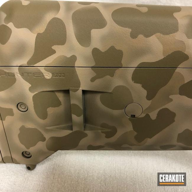 Cerakoted: S.H.O.T,Bolt Action Rifle,Coyote Tan H-235,MultiCam,Desert Sand H-199,Remington,.308