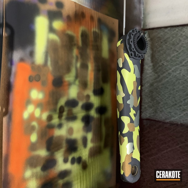 Cerakoted: eeWings,All Road,MOJITO H-313,More Than Guns,Cane Creek,Bikes,Crank Arms,Custom Camo,MultiCam,Mountain Bike,bike parts,Graphite Black H-146,Bicycle,Bicycle Components,Burnt Bronze H-148,Camo,Titanium Anodize,Anodized Titanium