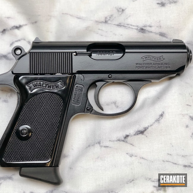 Cerakoted: S.H.O.T,Midnight Blue H-238,Walther,PPK,Pistol