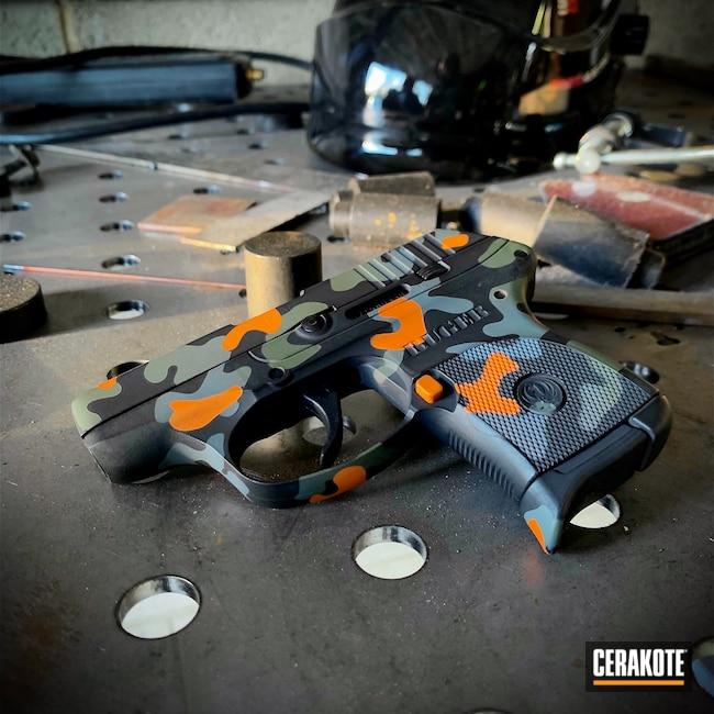 Cerakoted: S.H.O.T,LCP,Pocket Pistol,Ruger,Ruger LCP 380,EDC Pistol,.380,Compact Carry,Ruger LCP,Everyday Carry,Custom Gun,Pistol,SIG™ DARK GREY H-210,MultiCam Black,EDC,Custom Camo,Handgun,MultiCam,Sniper Green H-229,Graphite Black H-146,Firearm,Camo,Guns,Hunter Orange H-128