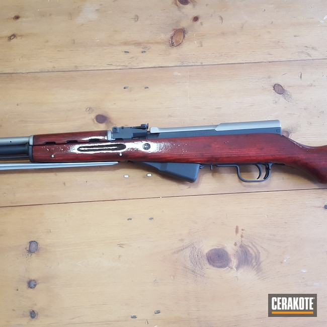 Cerakoted: S.H.O.T,Rifle,Titanium V-164,SKS,JET BLACK C-138,Chinese,7.62x39,7.62,Custom Cerakote,HKT Firearms