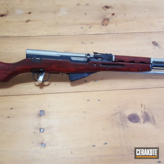 Cerakoted Refinished Sks 7.62x39 Rifle In V-164 And C-138