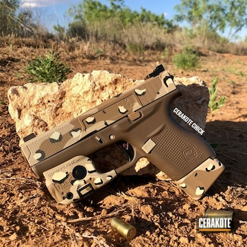 Cerakoted Chocolate Chip Desert Camo Glock 43