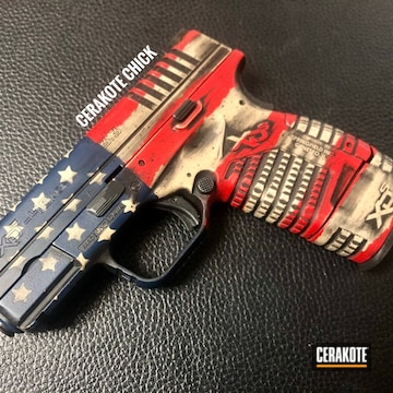 Cerakoted American Flag Springfield Xd