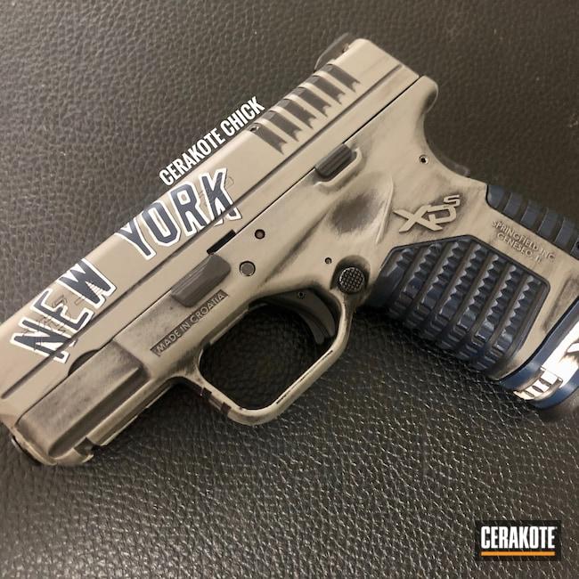 Cerakoted: S.H.O.T,9mm,Snow White H-136,Springfield XD,KEL-TEC® NAVY BLUE H-127,Pistol,Springfield Armory