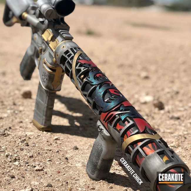 Cerakoted: S.H.O.T,Custom Rail,Knights,Graphite Black H-146,AR,Stainless H-152,USMC Red H-167,Tactical Rifle,Gold H-122,Crusader,Unique-Ars