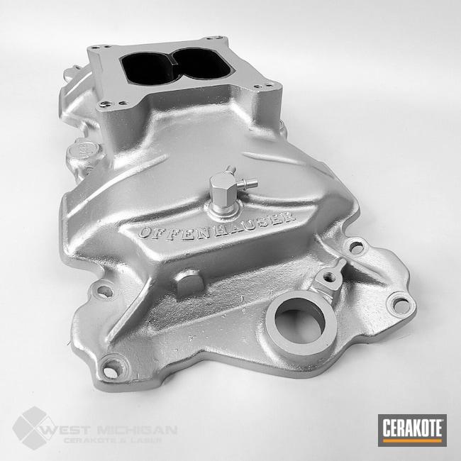 Cerakoted: Offenhauser,Intake Manifold,More Than Guns,Automotive,Auto,Automotive Exhaust,Manifold,CERAKOTE GLACIER SILVER C-7700