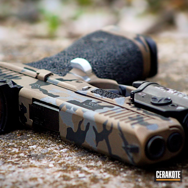 Cerakoted: 9mm,Midnight E-110,Tactical Grey C-228,#custom,Burnt Bronze H-148,Pistol,Glock,Glock 17,#G5,Tactical Grey H-227,Custom Camo