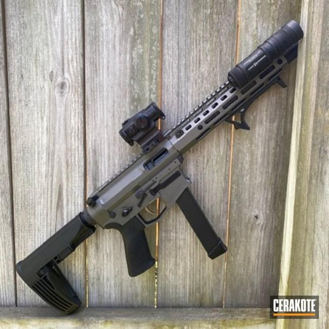 Cerakoted: S.H.O.T,9mm,AR Pistol,Tungsten H-237,SBR