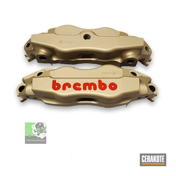 Cerakoted Brembo Brake Calipers In C-7800 And C-series