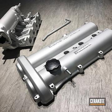 Cerakoted Mazda Mx-5 Engine Cover In Mx-5 And C-7700