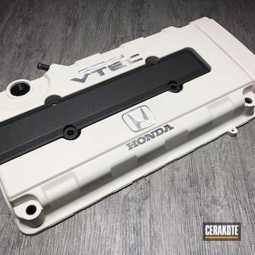 Cerakoted Honda Vtec Engine Cover In H-136 And H-237
