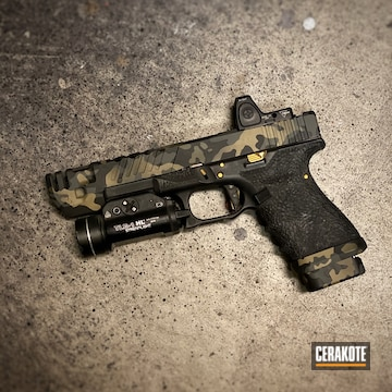 Cerakoted Glock 19 Multicam In H-235, H-146, H-236 And H-210