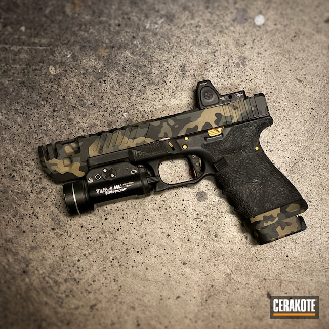 Cerakoted: SHOT,Glock 19,9mm,Coyote Tan H-235,MultiCam,Graphite Black H-146,Pistol,Glock,O.D. Green H-236,SIG™ DARK GREY H-210,MultiCam Black