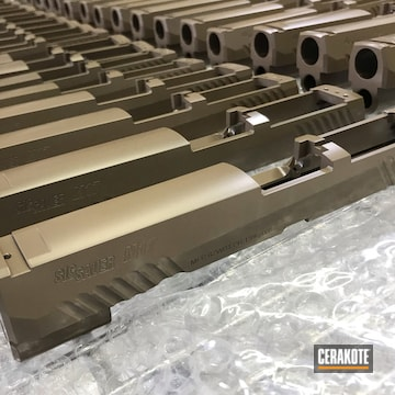Cerakoted Airsoft Pistol Slides In E-170