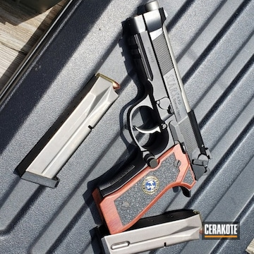 Cerakoted Custom Beretta 92a1 Handgun In H-152