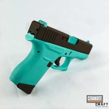 Cerakoted Two Toned Glock 43 In H-175 And H-258