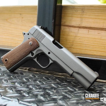 Cerakoted Refinished 1911 Handgun In E-120