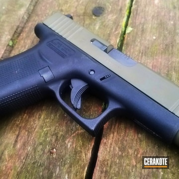Cerakoted Two Toned Glock In H-236