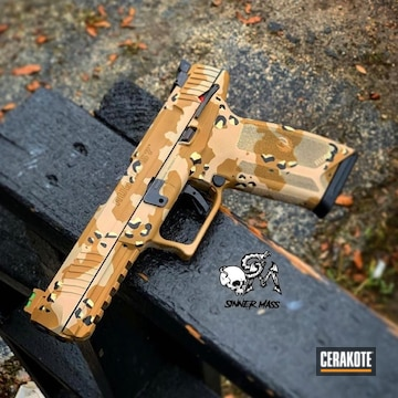 Cerakoted Chocolate Chip Camo Ruger-57