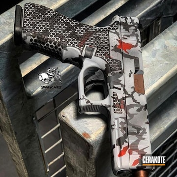 Cerakoted Custom Camo Glock Handgun