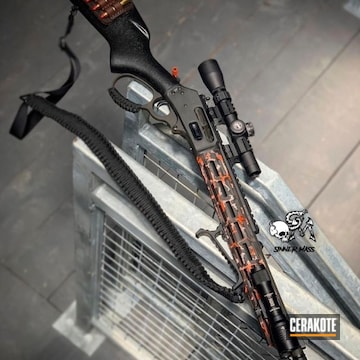 Cerakoted Urban Camo Marlin 1895 Rifle In H-146, H-213 And H-128