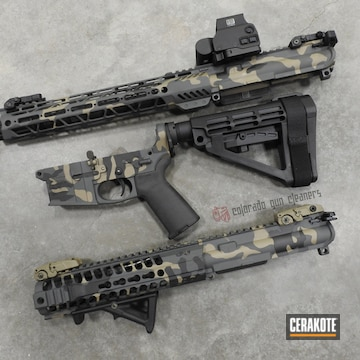 Cerakoted Ar Pistol Multicam In H-267, H-146 And H-345
