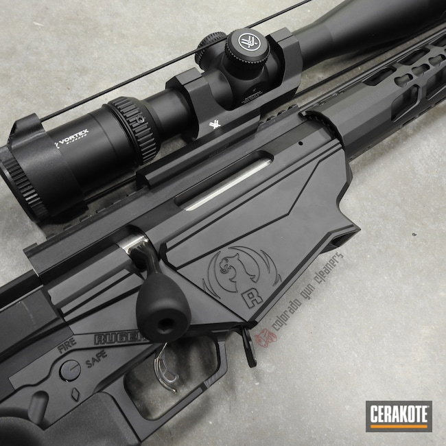 Cerakoted: Bolt Action Rifle,Ruger,Ruger Precision Rifle,Graphite Black H-146,.308
