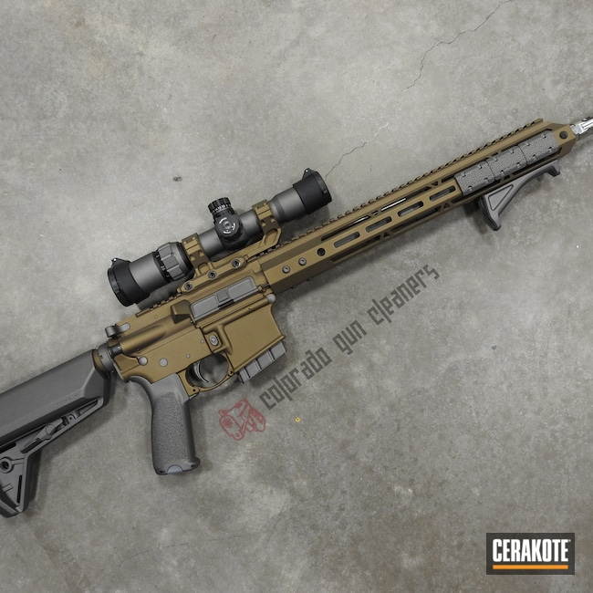 Cerakoted: S.H.O.T,AR,Burnt Bronze H-148,Tungsten H-237,Tactical Rifle,Gun Coatings