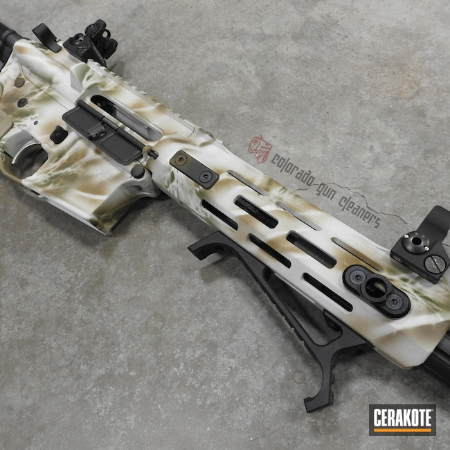 Cerakoted: S.H.O.T,AR Pistol,MAGPUL® FLAT DARK EARTH H-267,Stormtrooper White H-297,Tactical Rifle,MAGPUL® O.D. GREEN H-232,Snow Camo